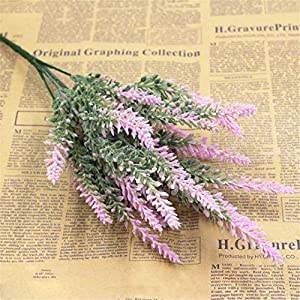 Rvbyjfg Lavender Flower Silk Artificial Pattern Decoration Aquatic Plants Color E 115