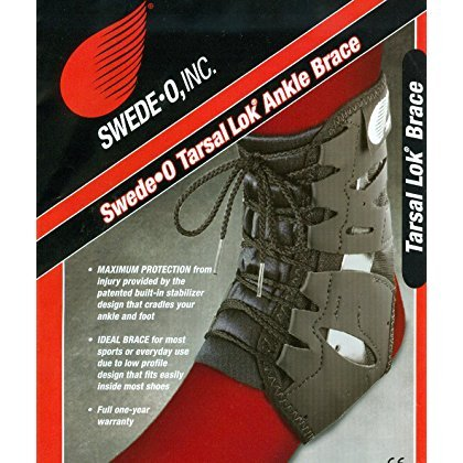 Swede-O Tarsal Lok Ankle Brace Large Black ()