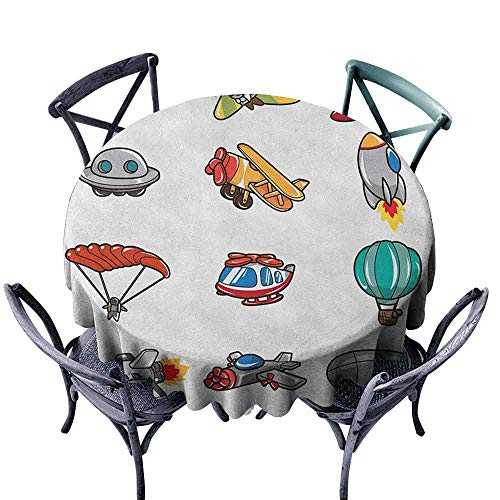 XXANS Waterproof Table Cover,Boys,for Events Party Restaurant Dining Table Cover,55 INCH Multicolor