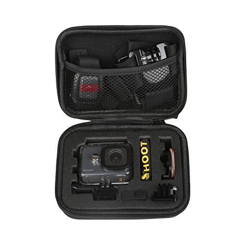 SHOOT Carrying Case for GoPro Hero 7/6/5 Small Size Protective Camera Storage Cases for GoPro Hero 7/6/5/4/3+/3/HERO(2018)/Fusion Campark AKASO DBPOWER Crosstour FITFORT Accessories(6.3'x4.8'x2.8')