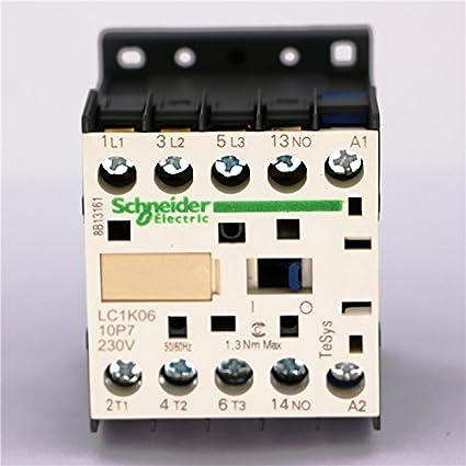 CJX2-K0610 110 Volts Coil 35mm DIN Rail 6A Three Pole 3P 1NO AC Contactor