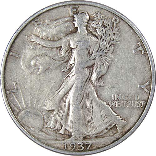 1937-S 50c Liberty Walking Silver Half Dollar VF-Very Fine
