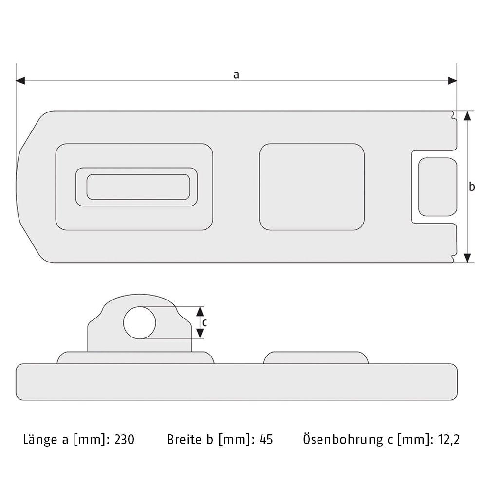 ABUS 110//230 Hinged Hasp and Staple