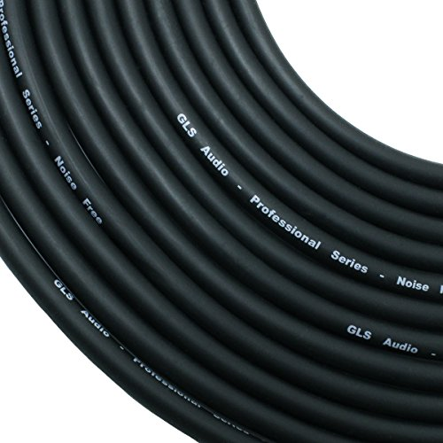 GLS Audio 25 foot Mic Cable Patch Cords - XLR Male to XLR Female Black Microphone Cables - 25' Balanced Mic Snake Cord - Single by GLS Audio (Image #1)