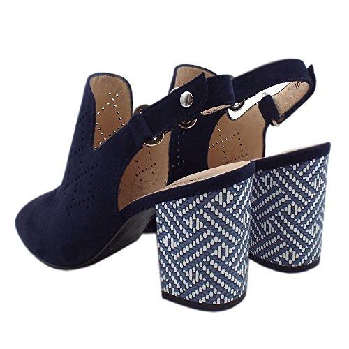 Notte SUEDE Heel Sandals NOTTE Block Back Andira Kaiser In Sling Peter Suede xnq8FTawZw