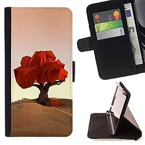 Momo Phone Case / Flip Funda de Cuero Case Cover - Polígono Arte Naturaleza Otoño Otoño - LG Nexus 5 D820 D821