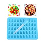 Moonguiding 50 Cavity Mini Silicone Gummy Bear Sweet Moulds