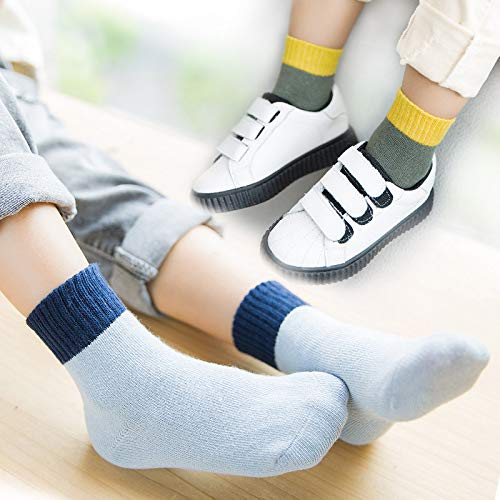 A.M.Feker 5 Pairs Of Comfortable Childrens Cotton Candy Socks Cute Baby Multi-color Socks