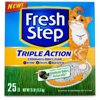 Image of FRESH STEP CAT LITTER 261213 Fresh Step Triple Action Scooping Litter, 25 -Pound