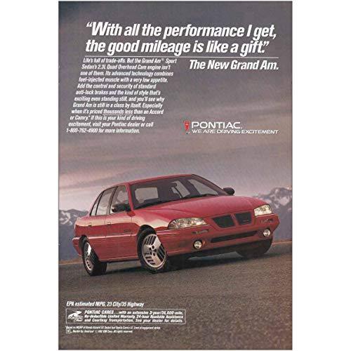 RelicPaper 1993 Pontiac Grand Am: Good Mileage is Like a Gift, Pontiac Print Ad