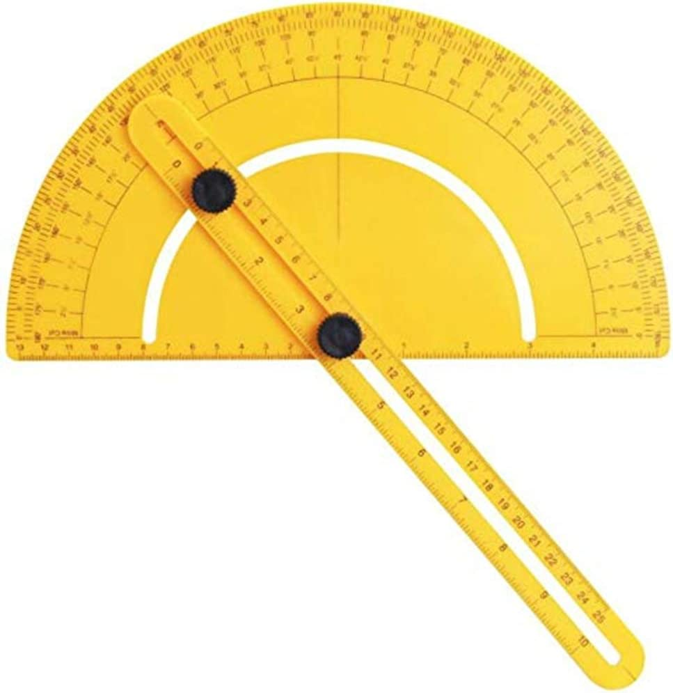 Chiloskit Digital Angle Finder Angle Protractor Goniometer Drafting Tools Metal Protractors 0-180 Degrees Angle Finder for Builder Carpenter Craftsman Engineer