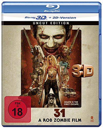 31 - A Rob Zombie Film (Uncut) [3D Blu-ray + 2D Version] [Import allemand] -