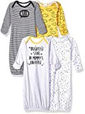 Gerber Baby Boys' 4 Pack Gowns, Star, 0-6 Months