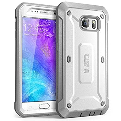 Galaxy S6 Case, SUPCASE Full-body Rugged Holster Case with Built-in Screen Protector for Samsung Galaxy S6 (2015 Release), Unicorn Beetle PRO Series - Retail Package (Black/Black) SUP-Galaxy-S6-BeetlePro-Black/Black