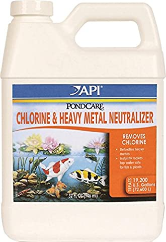 PONDCARE CHLORINE AND HEAVY METAL NEUTRALIZER - 32 OUNCE - Heavy Metal Neutralizer