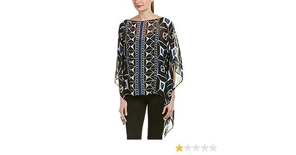 e52637b4 Amazon.com: Vince Camuto Women's Nairobi Graphic Poncho: Clothing