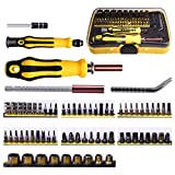 Kuman 70 in 1 Professional Screwdriver Kit Portable Magnetic Driver Set Electronic Precision Auto and Homeowner's Tool Kit for Install Repair Maintain Appliances P7100