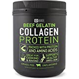 NEW! Beef Gelatin Collagen Protein from Pasture Raised, Grass-Fed Cows ~ Great for Cooking and Baking ~ Certified Paleo Friendly, Keto-diet approved and Non-GMO