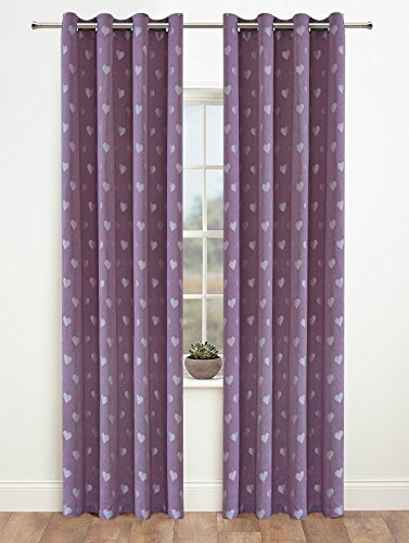 Onlyyou Window Treatments Thermal Insulated Heart Grommet Blackout Curtains (52