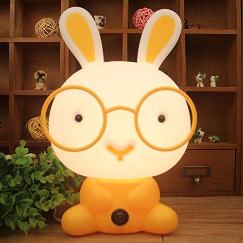 hrph creativo LED luce di notte lampada di notte deliziosa per neonati 220V spina ricaricabile eu coniglio giallo cartone animato lampada di casa luci notturne 15–48W