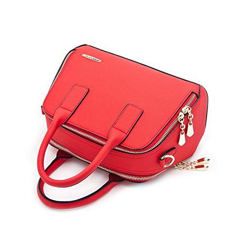 Miyoopark - Bolso estilo cartera de Material Sintético para mujer Red
