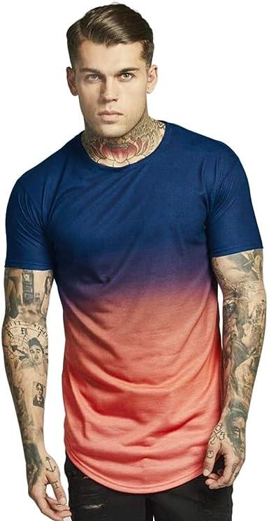 Berimaterry Camisetas Hombre Manga Corta Muscle Camiseta ...