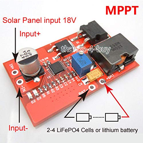 FidgetGear CN3722 MPPT Solar Controller 3A 2S 3S 4S LiFePO4 Cell or Lithium Battery Charger