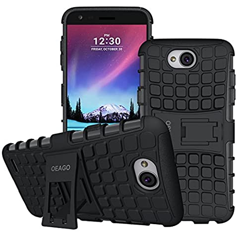 LG X Charge Case, LG Fiesta LTE Case, LG X Power 2 (2017) Case, OEAGO [Shockproof] [Impact Protection] Tough Rugged Dual Layer Protective Case with Kickstand for LG X Charge / LG Fiesta LTE - (Phone Case Charges)