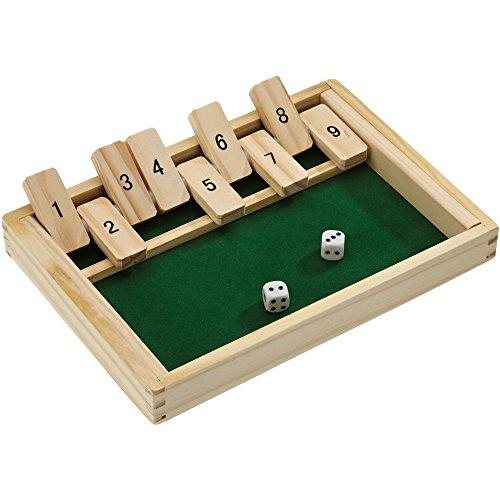 Beluga 10021 - Klappbrett aus Holz, aufregendes und kniffliges Würfelspiel