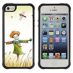 "Hypernova Defender Series TPU protection Cas Case Coque pour Apple iPhone SE / iPhone 5 / iPhone 5S [Diseño feliz del espantapájaros""]"