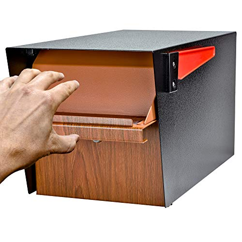 Mail Boss Curbside 7510 Mail Manager Locking Security Mailbox, Wood Grain, Black Powder Coat by Mail Boss (Image #9)