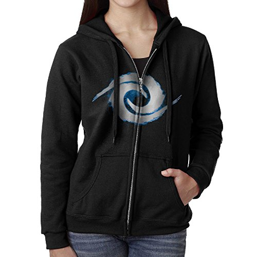 Blue Parkour Casual Womens Full-Zip Sweatshirt Hoodie Jacket Black (Hockey Halloween Blue Jackets)