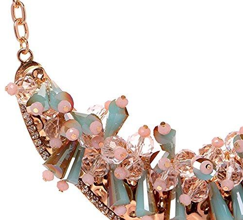 HONEYJOY New Dazzle Colour Crystal Female Luxury Clavicle Short Chain Exaggerated Fashion Necklace(blue) by HONEYJOY (Image #2)