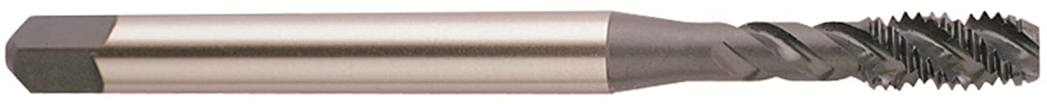YG-1 G8 Series Premium HSS Spiral Flute Tap Round Shank with Square End Modified Bottoming Chamfer TiN Coated H3 Tolerance 6-32 Thread Size