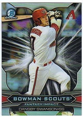 66207b4e6 2015 Bowman Chrome Draft Scouts Fantasy Impacts  BSI-DS Dansby Swanson  Diamondbacks MLB Baseball