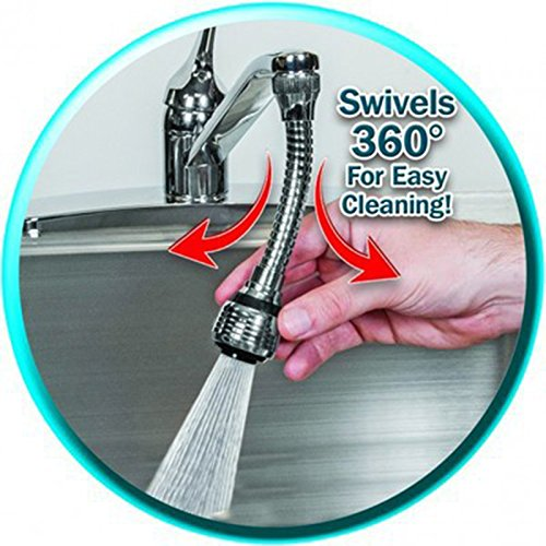 Turbo Flex 360 Sink Faucet Sprayer Jet Stream or Spray 6