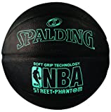Spalding 71022 NBA Street Phantom Official Outdoor Basketball, Neon Blue/Black, Size 7/29.5