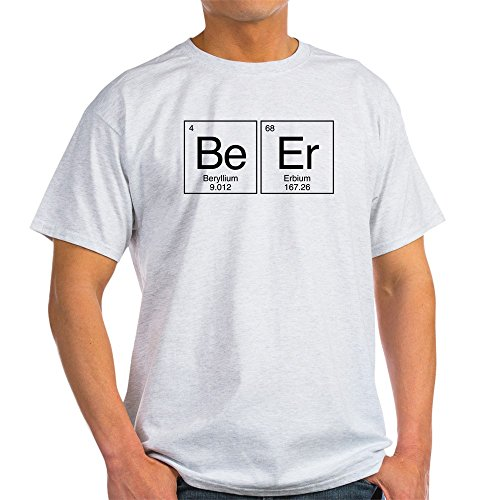 CafePress Beer Periodic Table 100% Cotton T-Shirt Ash Grey ()
