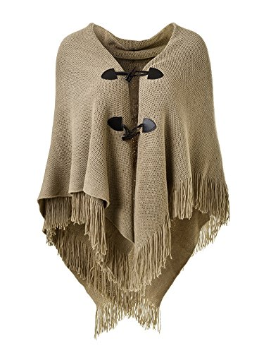 Ferand Women's Loose Fitting Poncho Cape Shawl With