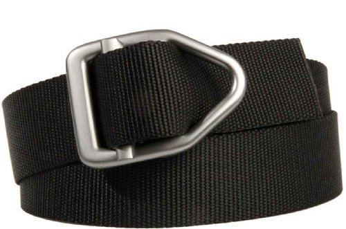 Bison Designs 38mm wide Light Duty Last Chance Belt with Gunmetal Buckle (Black 46-Inch Maximum WaistX-Large)