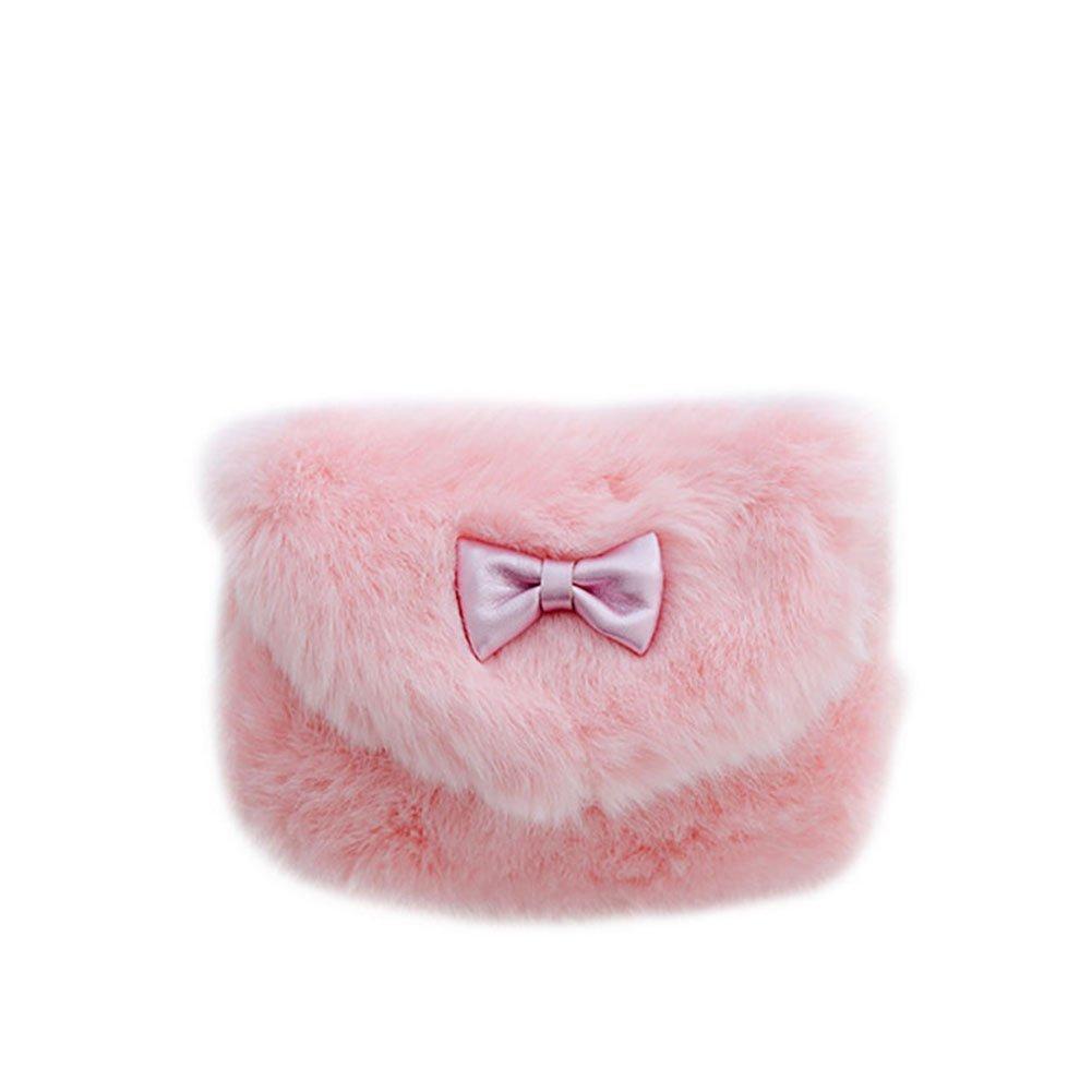 Vi.yo Girls Princess Handbags Cute Little Girls Fashionable Fun Fuzzy Floral Handbag for Small Girls Toddlers and Preschoolers (S, Light Pink)