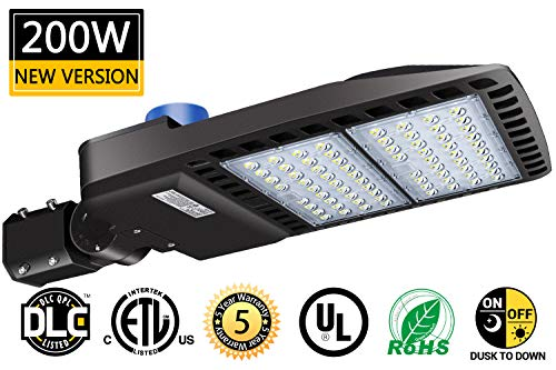 LED Parking Lot Lights 200W 26000 Lm Outdoor LED...