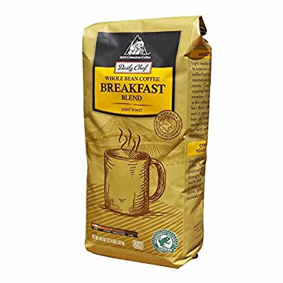 Daily Chef Coffee Breakfast Blend Rainforest Certified, Whole Bean (40 oz.) (pack of 6)