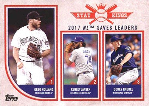 2018 Topps Big League #325 Corey Knebel/Kenley Jansen/Greg Holland Milwaukee Brewers/Los Angeles Dodgers/Colorado Rockies Baseball Card - GOTBASEBALLCARDS