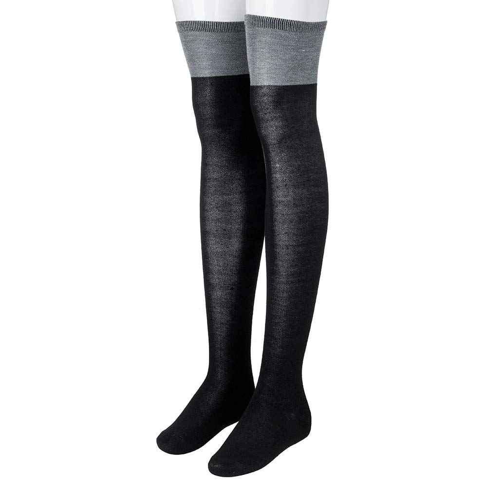 7201b548c28 Malbaba 1 Pair College Wind Thigh High Socks Stockings Over The Knee Girls  Womens at Amazon Women s Clothing store