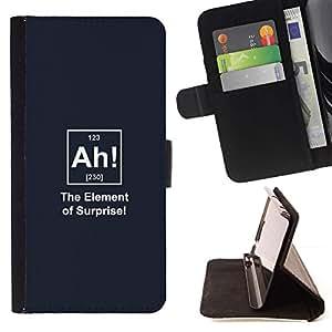 For Sony Xperia Z2 D6502 Case , Elementos Químicos divertido Sorpresa Cita- la tarjeta de Crédito Slots PU Funda de cuero Monedero caso cubierta de piel