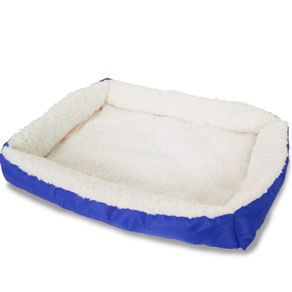 bluee Alppq Waterproof Cloth Kennel Lamb Velvet Pad Pet Bed Washable Dog Pad Cat Nest Four Seasons Universal Luxury Dog Bed Plush Pet Bed Comfort Cat Dog Bed Rectangle Pet Bed Sofa Pet Cave Dog Bed by