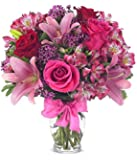 "From You Flowers - Rose & Lily Celebration (Free Vase Included) Measures 14""H by 12""L"