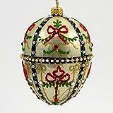 Faberge Inspired -Gatchina Palace Egg - Polish Mouth Blown Glass Christmas Ornament