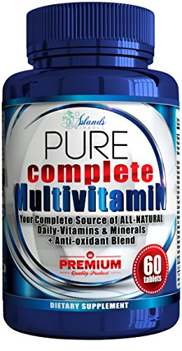 Daily Multivitamin + Antioxidant For Men & Women All Natural Vitamins A, B Complex, C, Vitamin D3 2000 IU, E, Biotin Best Complete Multivitamins & Minerals Supplements (Full 2 Month Supply)